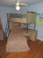 Bunk Bed with built in desk and storage unit