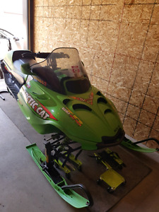 2002 Arctic Cat  ZR 600 and 2013 double wide cradle ride trailer