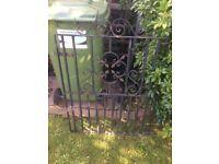 Wrought iron garden gares x2