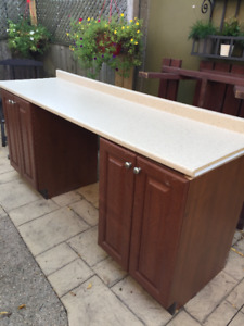 Base Cabinets (2), Wall Cabinets (2) and Countertop