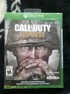 Call Of Duty World War 2 for XBOX ONE BRAND NEW NEVER OPENED