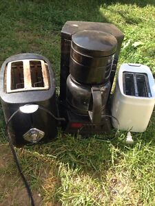 2 toasters and a coffee maker