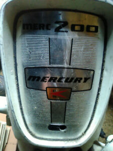 ATTENTION COLLECTORS! 1963 Merc 200 Outboard!