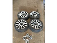 VW GOLF ALLOY WHEELS TYRES REPLICA AUDI TT