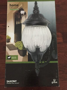 Brand new outdoor wall light in box