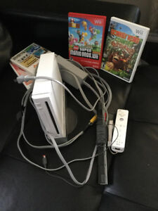 Wii with 4 games