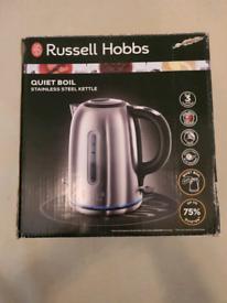 Brand new russell hobbs quite boil kettle stainless steel