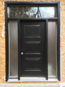 Brand New Steel Exterior Door - Modern Black