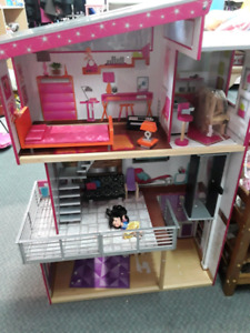 Barbie 3 story wooden doll house