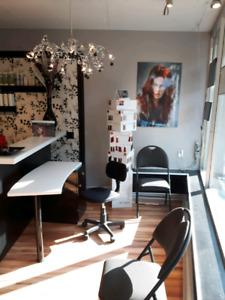 Salon coiffure à vendre