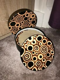 HAND PAINTED PLATES/ stands/coffee cups
