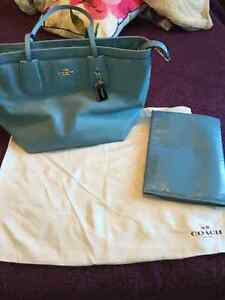 New leather coach diaper bag
