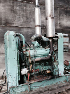 Detroit Diesel Power Unit 8V71 Motor with Industrial Clutch