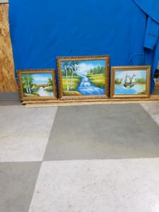 Cadre et peintures