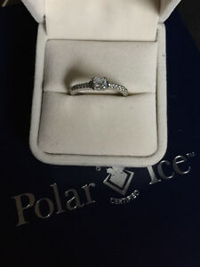 Canadian Diamond Engagement Ring with Band