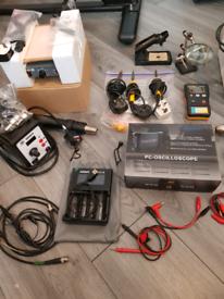 Oscilloscope, Esr meter, Bench Power Supply, Phone Laptop Tools