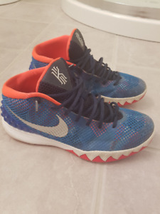 Nike Air Kyrie Irving Orange/Blue Colorway Size12 VG Condition