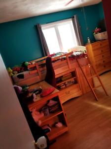 Single bed set, desk, dresser, mattress, computer chair etc.....