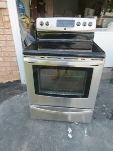 Kenmore Stainless Glass Top Self Clean Stove