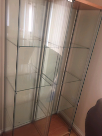Display cabinet / Show case / Glass cupboard - SET OF 2 columns