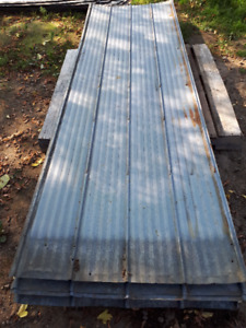 USED ROOFING TIN ASSORTED LENGTHS AND CONDITION $1.00 FT