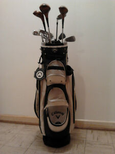 12 piece women's golf club set and Callaway bag