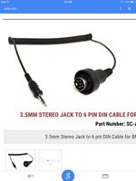 3.5 mm stereo jack to 6 pin din cable