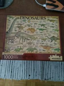 Casse-tête Dinosaures 1000 pièce Aquarius