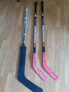Ball hockey sticks