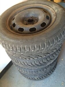 195/65-15 studded winter tires on VW rims