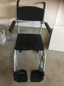 Portable Shower Chair / Commode Wheelchair with brakes