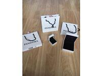 Genuine Pandora bags + boxes + pouches