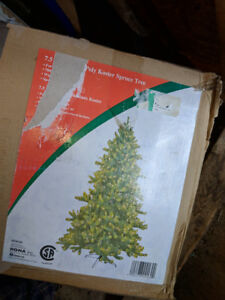 7.5 ft Pre-Lit Poly Koster Spruce Tree