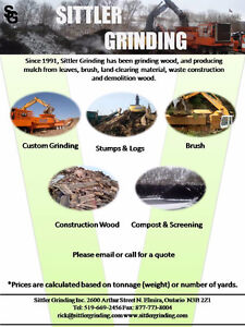 Stump Grinding - Wood and Construction Waste Removal Stratford Kitchener Area image 8