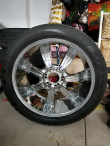 22 INCH GUNNER CHROME RIMS
