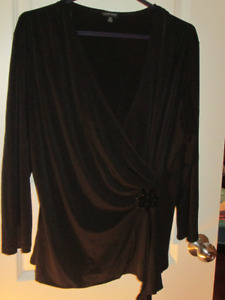 Nine West Elegant Black Top - Size XL