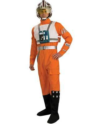 Adult Star Wars X-Wing Pilot Deluxe Fancy Dress Costume Rebel Alliance Mens BN
