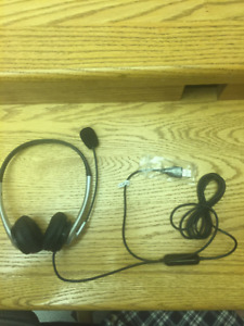 Headset with microphone for computer