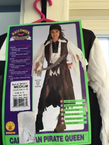 Costume d'Halloween de reine pirate (fille) 8 ans/ queen pirate