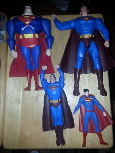 VARIOUS SUPERMAN FIGURES