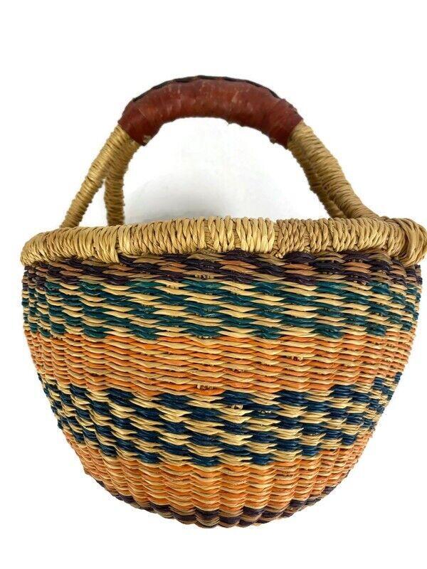 Small Easter African Market Basket Bolga Ghana Kids Storage 7.5