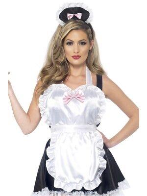 Kellnerin Kostüm Set 2-teilig French Maid Putzfrau Schürze - Kopf Maid Kostüme