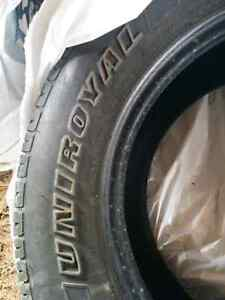4x different used tires 225/70/16 - good tread