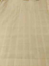 Natural Cotton Curtains (wide stripe)