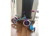 Disney Frozen Balance Bike and Scooter
