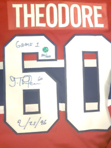 Signed Jose Theodore jersey