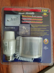 Heath Zenith Motion Sensor Light Control, brand new