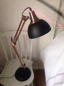Pair of designer metal and copper lights