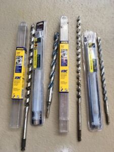 Drill Bits - Set of 4 bits - 3/4 and 1/2 - Concrete and wood