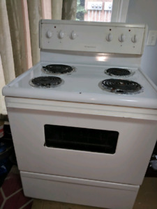 "Frigidaire white 24"" electric coil top stove oven"